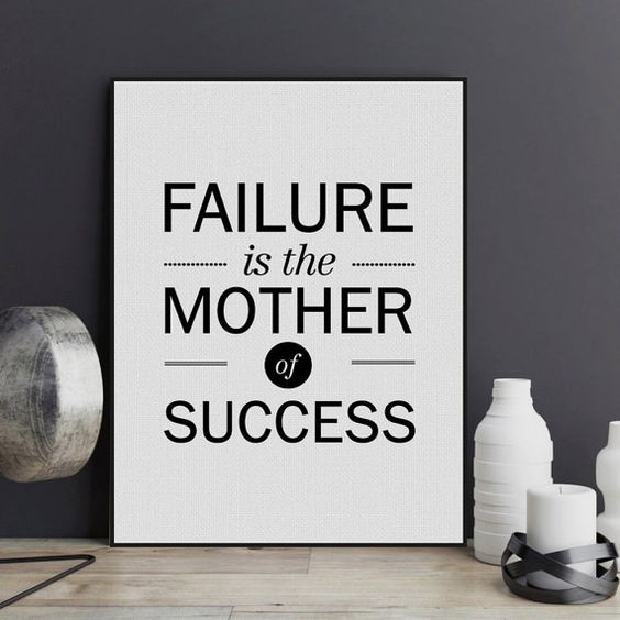 Inspirational Quotes About Failure: Freeshipping Failure Mother Success Black White