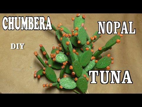 Diy chumberas nopales tunas para el bel n realismo para for Cactus de navidad