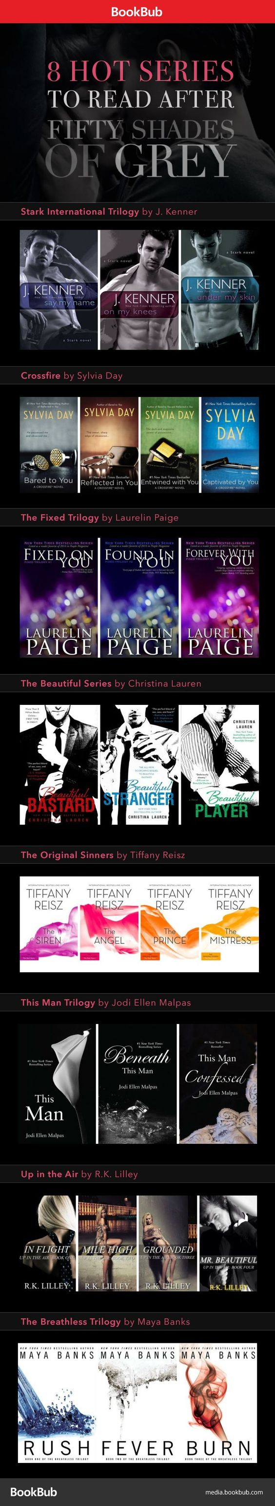 8 Series to Start After You Finish the Fifty Shades Trilogy - Hot books for Fifty Shades of Grey fans. These books are worth reading if you can't get enough Christian Grey!