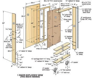 Rolling cabinet plans, This is your woodworking search result for ...