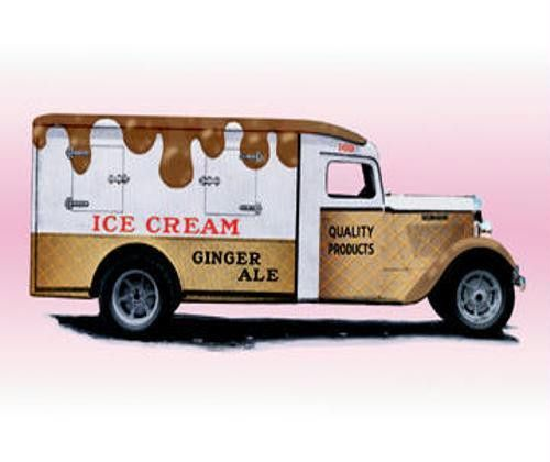 Ice Cream Truck 12x18 on art paper