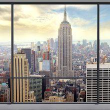 Fototapete - Penthouse Window View