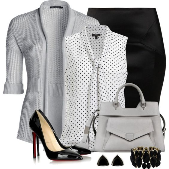 A fashion look from June 2013 featuring summer tops, white blouse and pencil skirt. Browse and shop related looks.