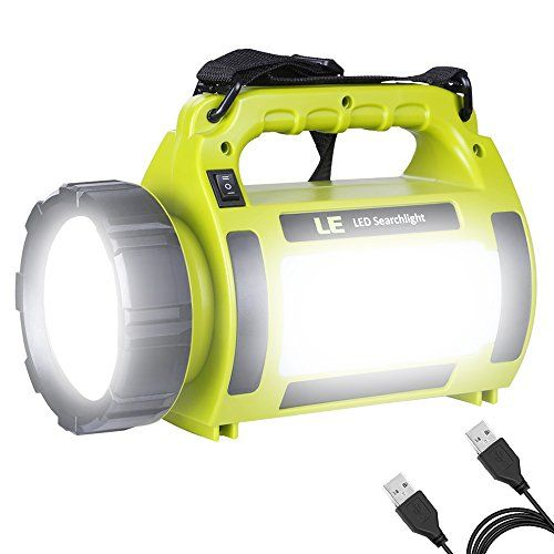 Lighting Ever Le 1000lm Rechargeable Camping Lantern 3600mah Power Bank Super Bright Flashlight 3 Modes Lamp Dimmable Led Spotlight 10w Outdoor Searchlight Area Led Camping Lantern Lantern Flashlight Camping Lanterns