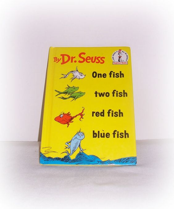 Dr. Seuss Children's Book One Fish Two Fish by SheCollectsICreate