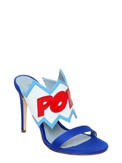 100mm Pow Bang Satin Sandals
