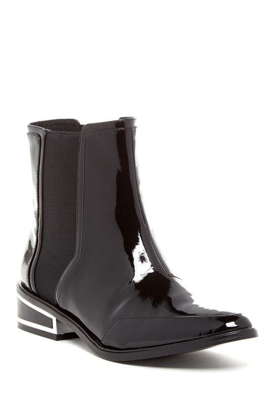 Need.  Rachel Zoe Black Patent Billie Ankle Boot