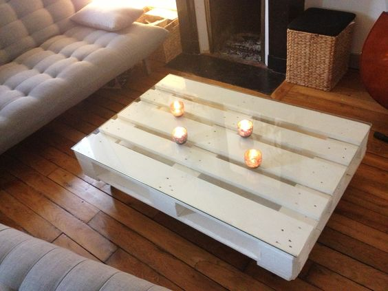 Table basse en palette de bois diy craft pinterest for Table en palette