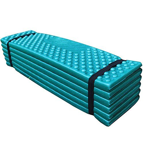 Edtara Waterproof Mattress Sleeping Pad For Backpacking Camping Fishing Climbing Eva Foam Cushion Seat Pads Ultralight Foam Camping Mat Easy Folding Mat Green Camping Sleeping Pad Sleeping Pads Camping Mattress