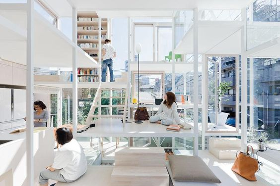 What I'm assuming is a Japanese dream house.  //photographer::Iwan Baan //project::House NA in Tokyo, Japan //architect::Sou Fujimoto