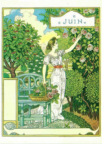 chantducygne:    Juin - Eugène Grasset: La Belle Jardinière (1896)