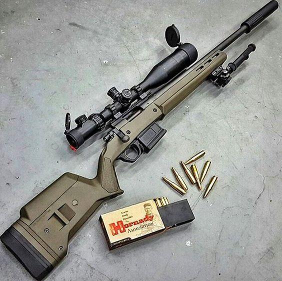 .308 Remington 700 in Magpul OD.