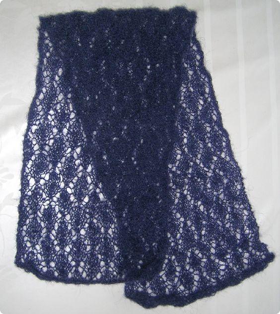 mod le echarpe tricot dentelle gratuit tricot pinterest tricot. Black Bedroom Furniture Sets. Home Design Ideas