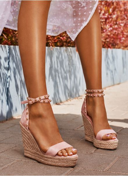 Deezee Rozowe Espadryle Na Koturnie Peep Toe Reblle W Sklepie Deezee Pl Espadrilles Sandal Espadrille Shoes