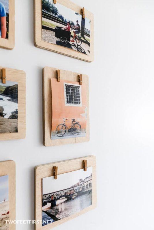 Diy Clipboard Frames Clothes Pin Frame Clothespin Picture Frames Wooden Picture Frames