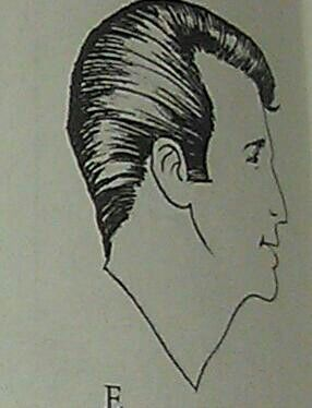 10. 1950s duck tail hair style