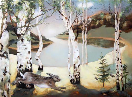 """Morning Run"" - by Lesley Mclaren, Scottish Artist.:"