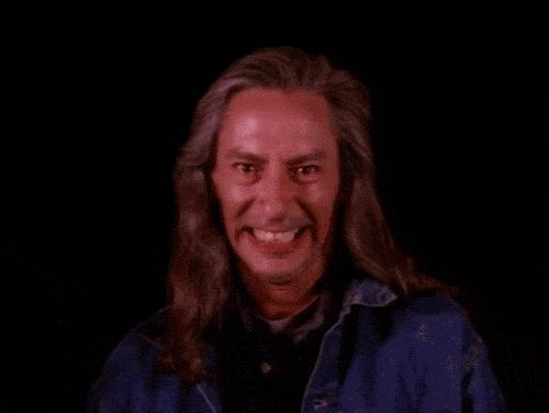 Pin for Later: All the Freaky, Fabulous Reasons Twin Peaks Is a Cult Classic This is Bob. He may not seem as scary in this GIF, but in context, he is terrifying.