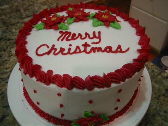 Christmas Cake Decorating Ideas Without Icing : Quot red velvet cake with buttercream icing