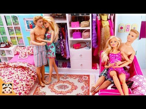 Two Barbie Ken Bedroom Morning Routine Bunk Bed Casa House Doll Play 바비 쌍둥이 인형놀이 드라마 장난감 놀이 보라미tv Youtube Diy Bedroom Decor Doll Play Decor Inspiration