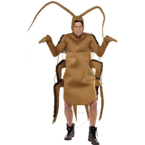 Bruin kakkerlak kostuum met lange mouwen. One size model, u past er allen in…