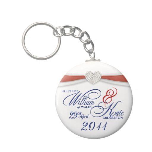 Royal Wedding Souvenir - William  Kate Key Rings Key Chains