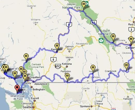 Canadian road trip-have done half of this but would definitely do it again!