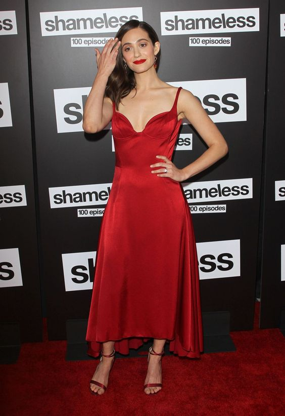 Emmy Rossum At Shameless 100th Episode Celebration Los Angeles 9 June 2018 Red Formal Dress Formal Dresses Women