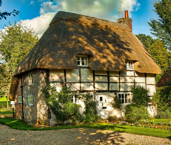 Cottage in brides and hampshire on pinterest - The thatched cottage ...