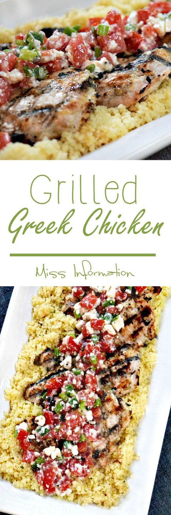 Grilled Greek Chicken marinated in Greek yogurt is so good we've made it 3 times in the past month!