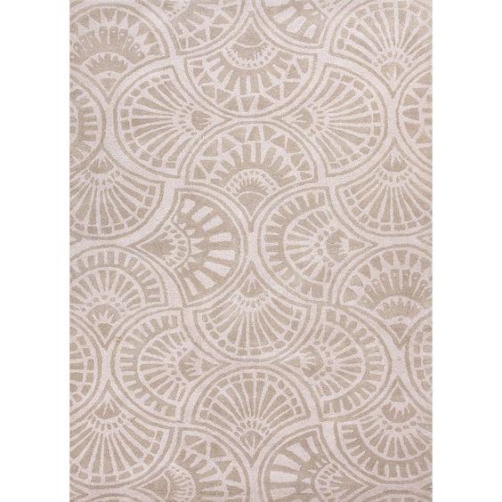 Hand-tufted 'Blue' Wool/ Silk Rug (9'6 x 13'6) | Overstock.com