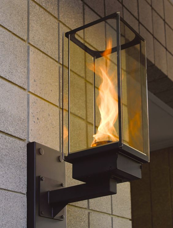 Wall Gas Lamps : Lighting, Front porches and Outdoor decor on Pinterest