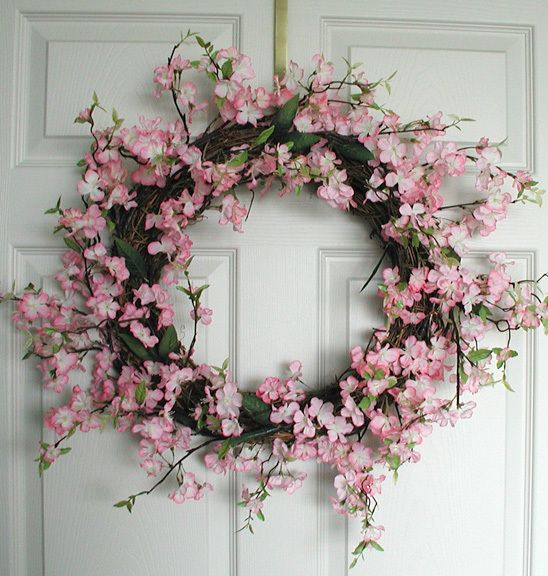 Out Of Stock Items Apple Blossom Silk Wreath 20 In Silk Wreaths Silk Flower Wreaths Door Wreaths Diy