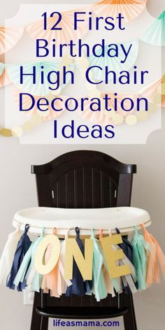 Baby's first birthday is so special! I've never seen such a great collection of high chair decoration ideas all in once place. Pinning this!