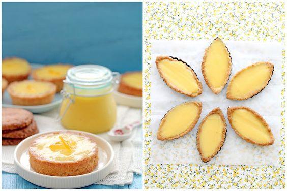 Lemon curd tartelettes with sugar cookie crust
