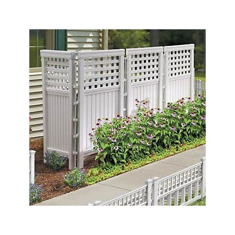 improvements resin outdoor privacy screen white at hsn