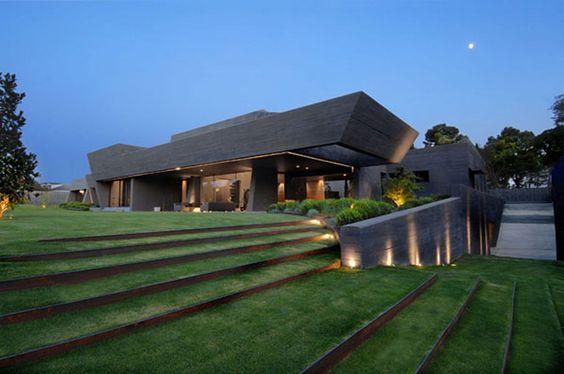 stairs: House Design, Cero Architect, Dream House, Dream Home, Concrete Houses, Grass Steps, Modern House