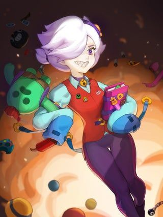 Colette Fanart   See how many brawler items you can find : Brawlstars