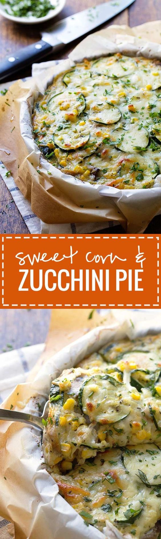 Sweet Corn and Zucchini Pie - a simple crustless pie featuring fresh summer veggies and melted cheese. 275 calories. | pinchofyum.com
