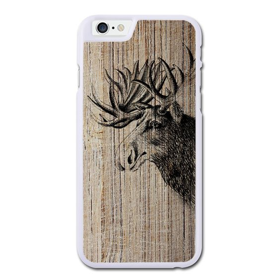 Moose On Wood Texture Phonecase For iPhone 6/6S Case