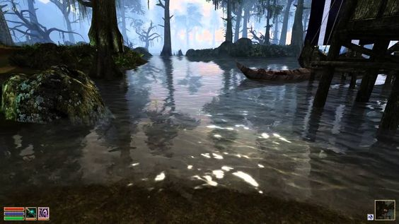 The sheen of unknown / depths below. Clear waters are / the most deceptive. -christiestratos #morrowind #elderscrolls