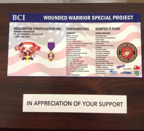 Wounded Warrior project POWMIA