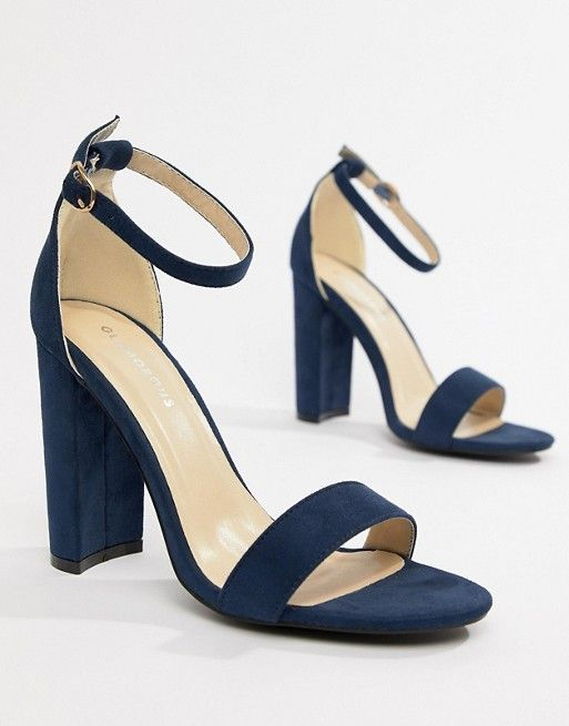 Glamorous Wide Fit Navy Barely There