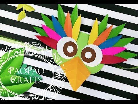 Máscara De Papel Cómo Hacer Máscara De Pájaro Antifáz Moldes Gratis Paper Mask Maschera Yout Antifaces Para Niños Disfraces De Pajaros Manualidades