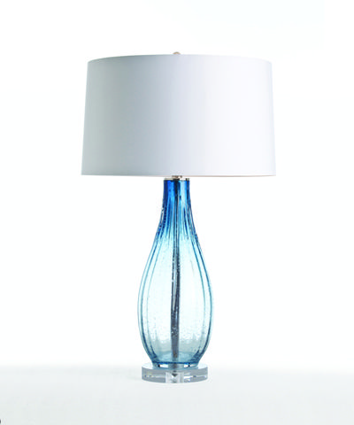 Arteriors Parkland Blue Optic Glass/Acrylic Lamp - Ombre ocean-blue optic glass sparkles with a prism effect of crystal