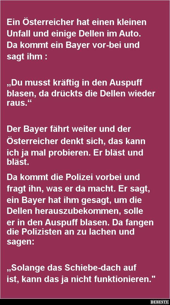 Ein Österreicher hat einen kleinen Unfall   DEBESTE.de, Lustige Bilder, Sprüche, Witze und Videos