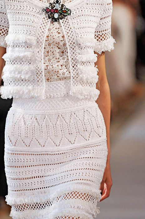 Chanel. Crochet, lattice, lace.... And neutrals.... It all just keeps coming and coming: