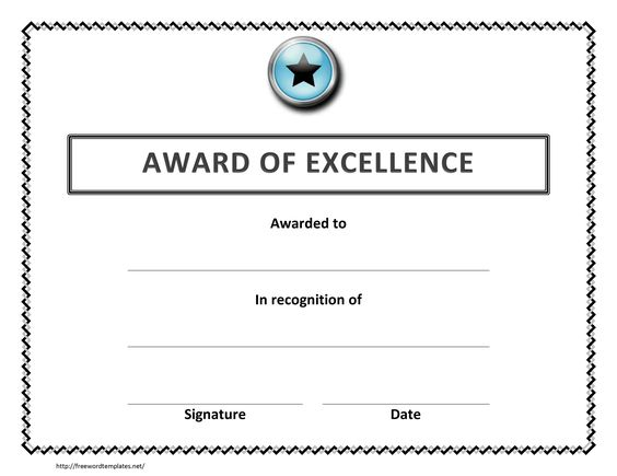award excellence certificate template free microsoft word employee - award template word