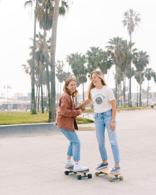 All Girl Stoke Chasing Skate Crew In Venice Cali Surfer Girl Style Skate Girl Skater Girls