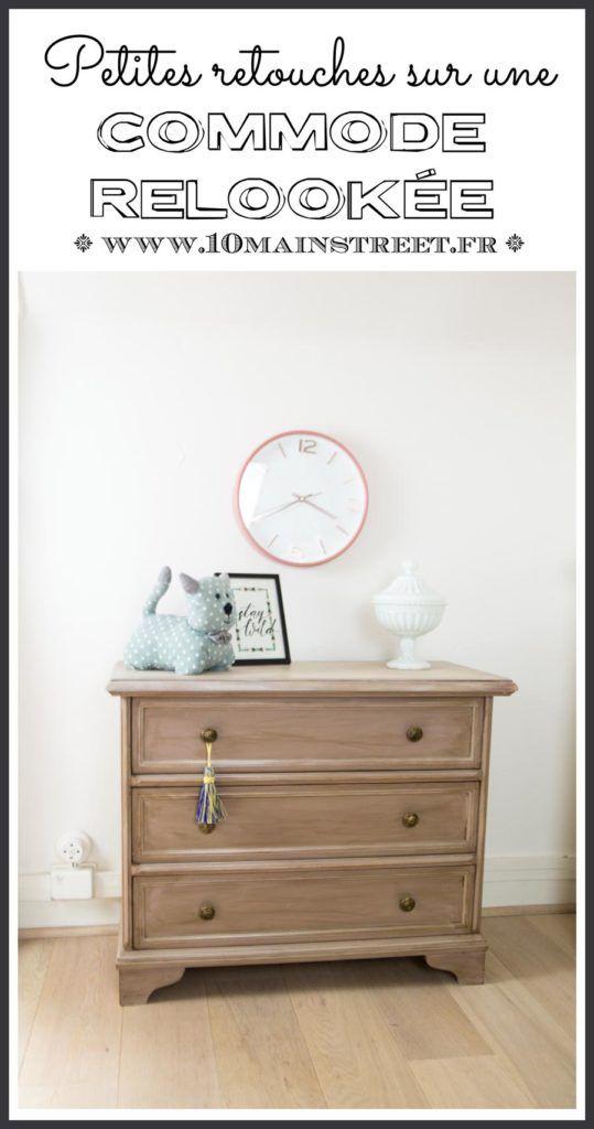 Petites Retouches Sur Une Commode Relookee Pour Notre Chambre Relooking Meuble Relooker Chambre Decoration Maison